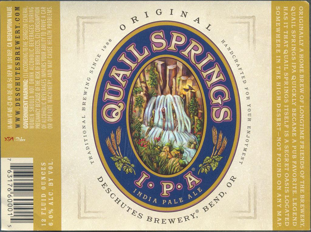 Quail Springs IPA - Deschutes Brewery