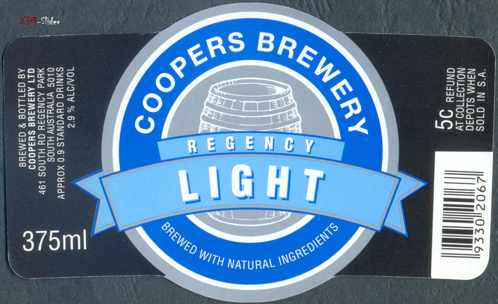 Regency Light - Coopers Brewery