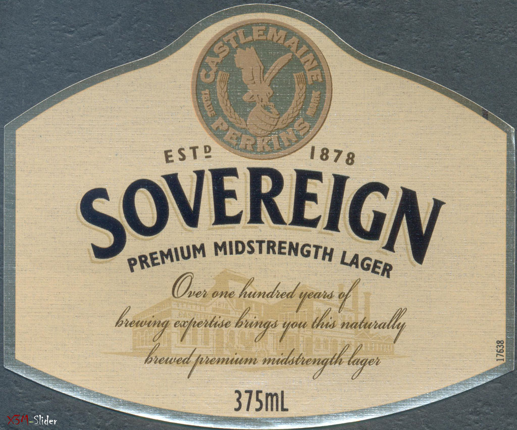 Sovereign - Premium Midstrength Lager - Castlemaine Perkins