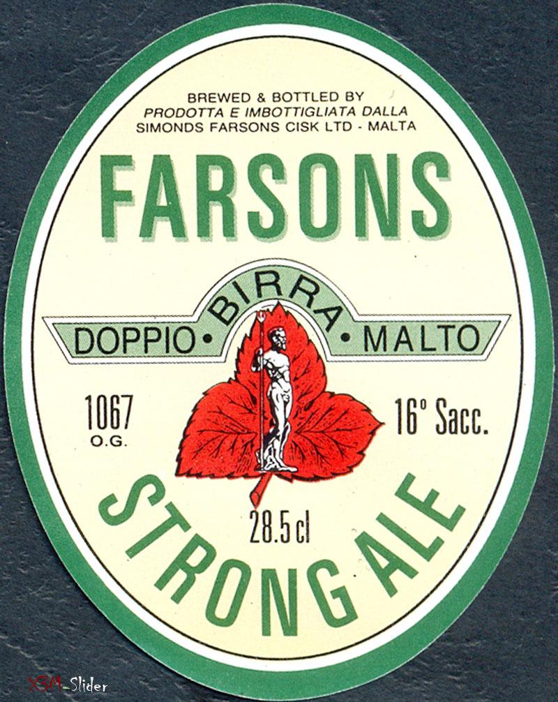 Strong Ale - Doppio Birra Malto - Brewery Simonds Farsons Cisk LTD