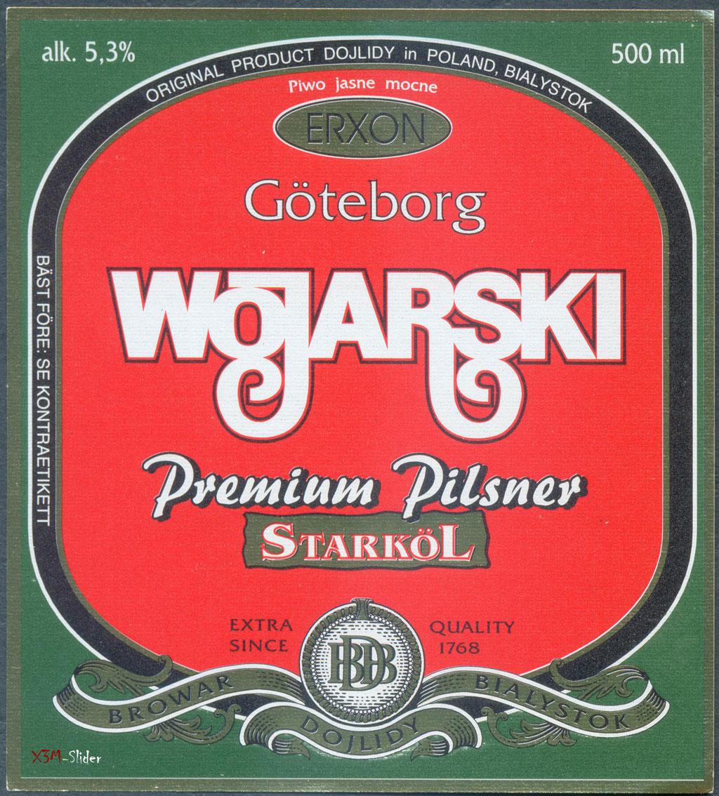 Wojarski Premium Pilsner Starkol - Browar Dojlidy Bialystok