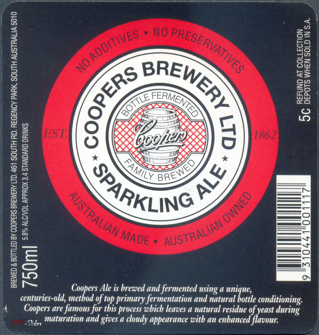 Sparkling Ale 750 ml - Coopers Brewery LTD (Большая)