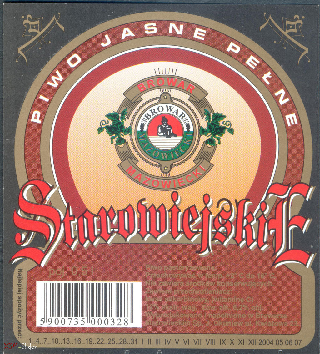 Staromiejskie - Piwo Jasne Pelne - Mazowiecki